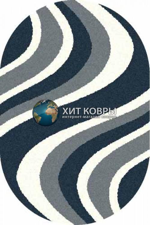 Российский ковер  овальный Platinum t617 бирюзовый