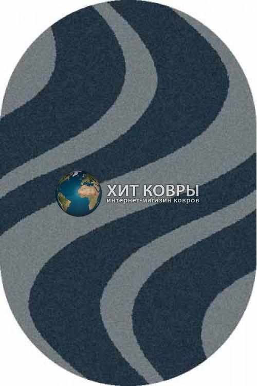 Российский ковер  овальный Platinum t617 морской волны