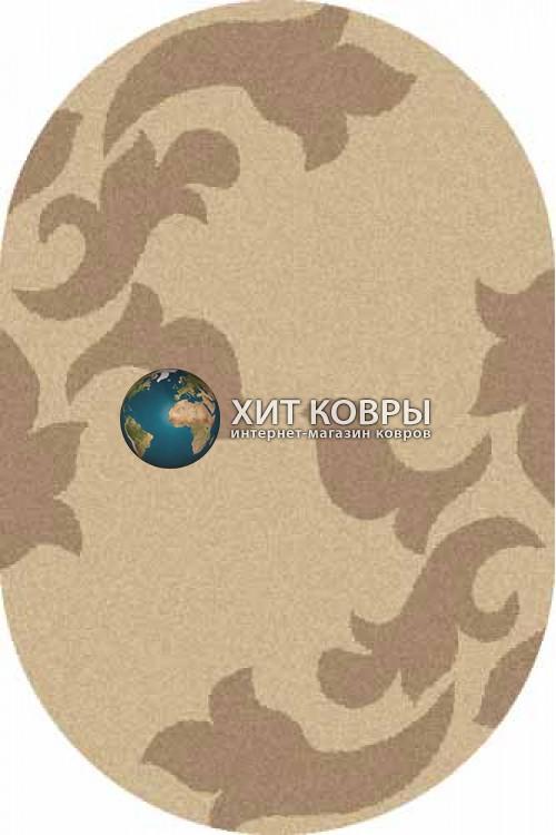 Российский ковер  овальный Platinum t620 бежевый d