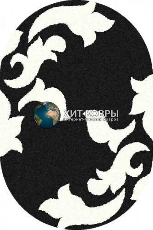 Российский ковер  овальный Platinum t620 черный natural