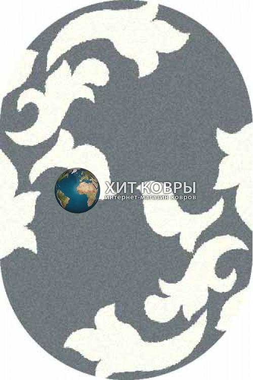 Российский ковер  овальный Platinum t620 голубой natural