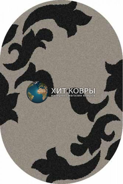 Российский ковер  овальный Platinum t620 серый черный