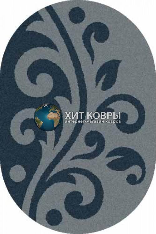 Российский ковер  овальный Platinum t621 голубой
