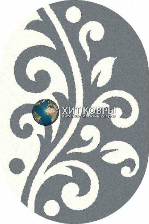 Российский ковер  овальный Platinum t621 голубой natural