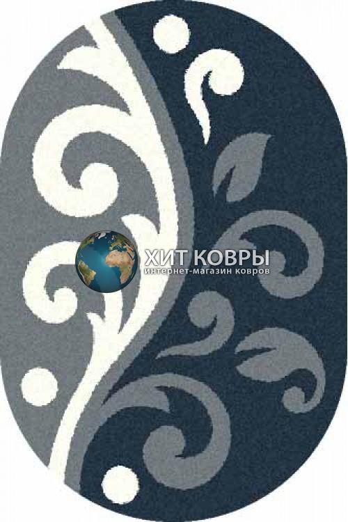 Российский ковер  овальный Platinum t621 голубой бирюзовый