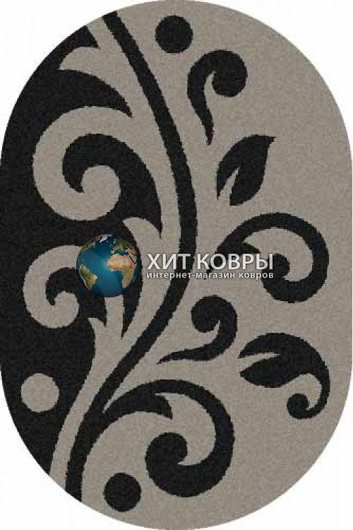 Российский ковер  овальный Platinum t621 серый