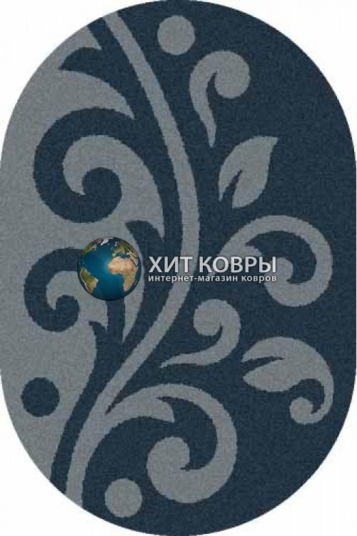 Российский ковер  овальный Platinum t621 бирюзовый