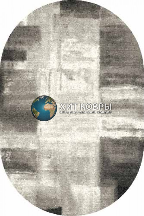 Российский ковер  овальный Platinum t622 серый