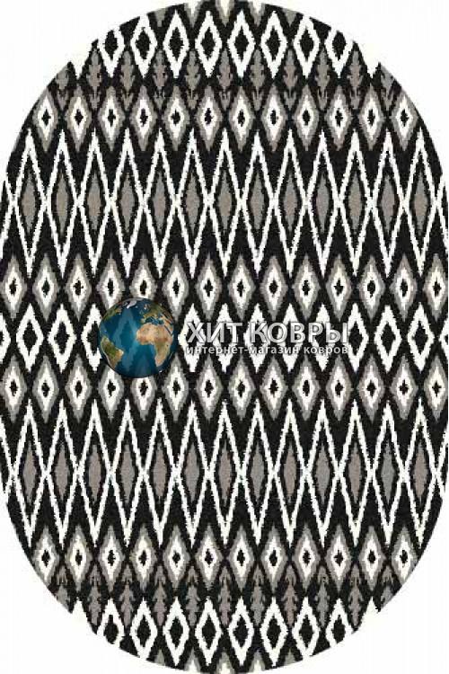 Российский ковер  овальный Platinum t624 черный
