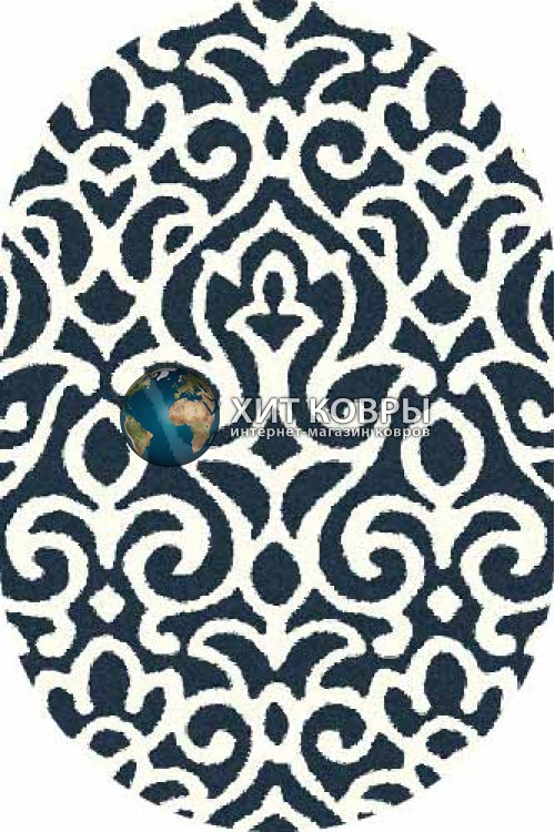 Российский ковер  овальный Platinum t627 бирюзовый