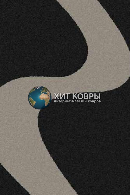 Российский ковер прямоугольный Platinum t616 черный серый