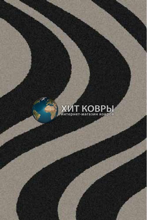 Российский ковер прямоугольный Platinum t617 черный серый