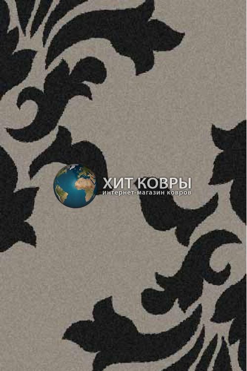 Российский ковер прямоугольный Platinum t620 серый черный