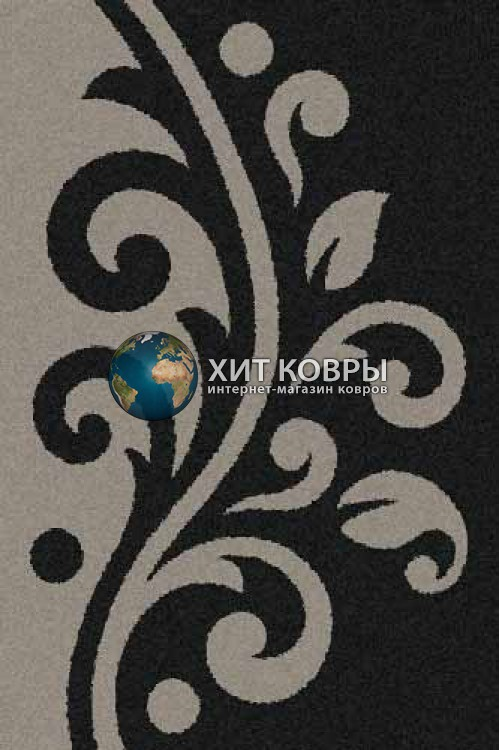 Российский ковер прямоугольный Platinum t621 черный