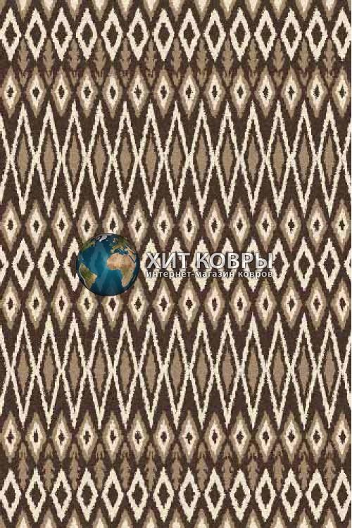 Российский ковер прямоугольный Platinum t624 коричневый