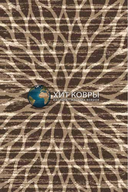 Российский ковер прямоугольный Platinum t626 коричневый d