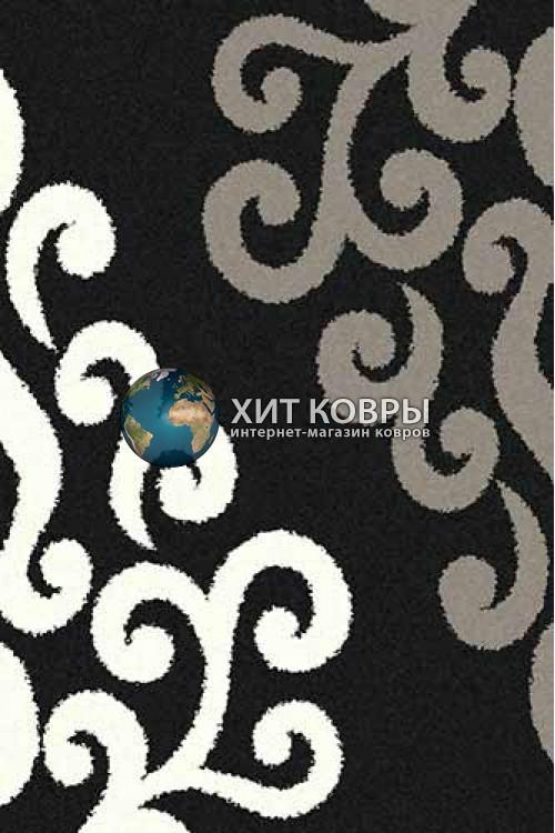 Российский ковер прямоугольный Platinum t628 черный