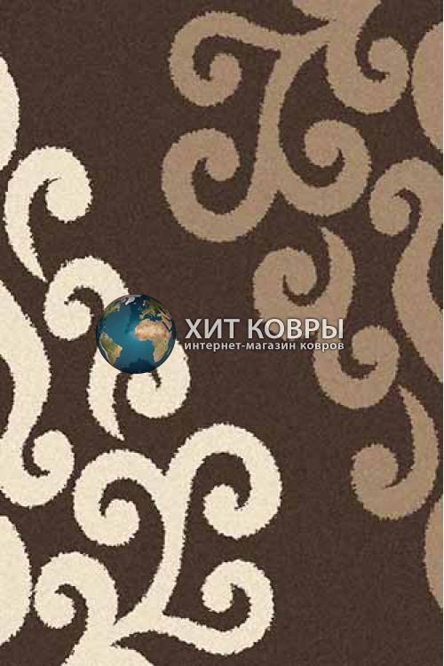 Российский ковер прямоугольный Platinum t628 коричневый