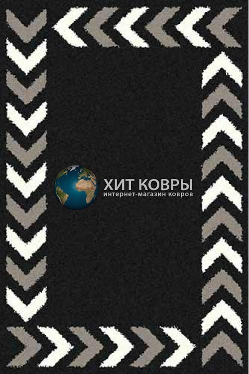 Российский ковер прямоугольный Platinum t638 черный