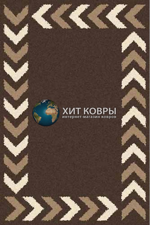 Российский ковер прямоугольный Platinum t638 коричневый