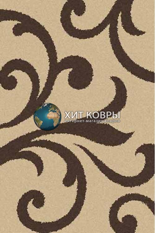 Российский ковер прямоугольный Platinum t644 бежевый коричневый