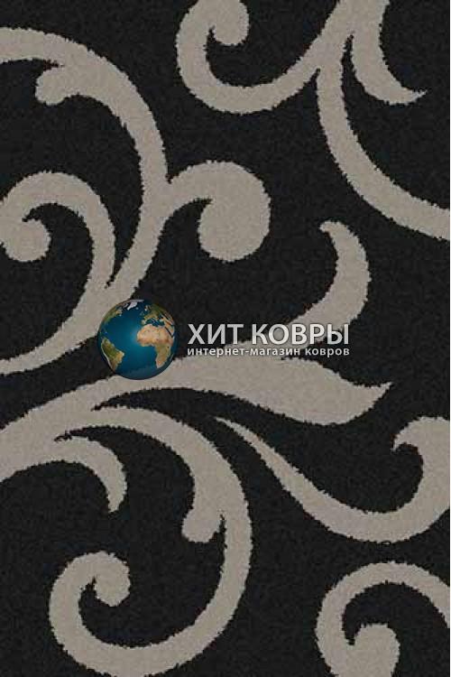Российский ковер прямоугольный Platinum t644 черный серый