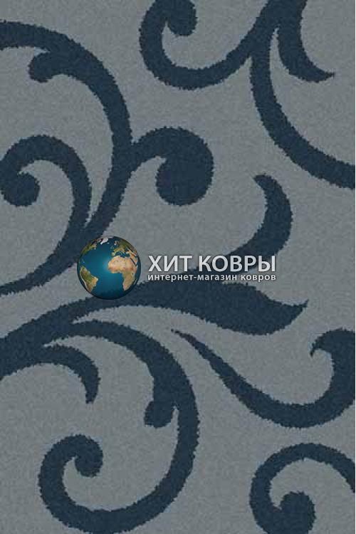 Российский ковер прямоугольный Platinum t644 голубой бирюзовый