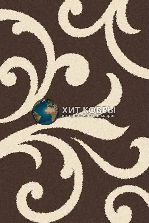 Российский ковер прямоугольный Platinum t644 коричневый кремовый