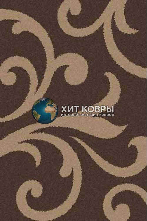 Российский ковер прямоугольный Platinum t644 коричневый d