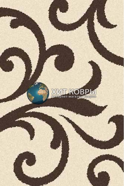 Российский ковер прямоугольный Platinum t644 кремовый коричневый