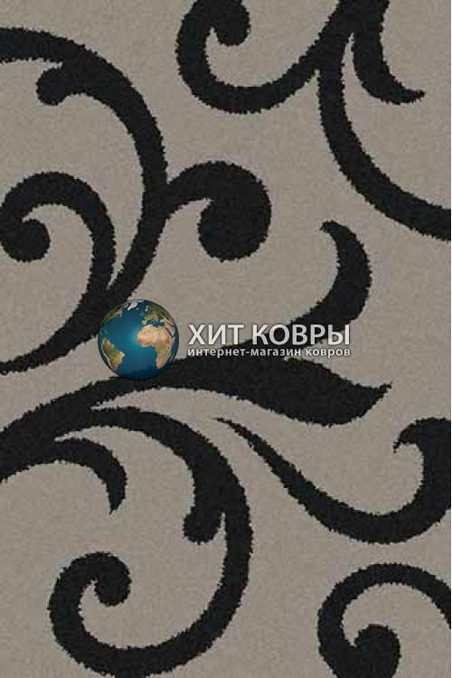 Российский ковер прямоугольный Platinum t644 серый черный