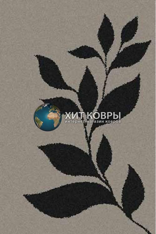 Российский ковер прямоугольный Platinum t647 серый черный