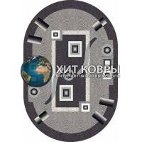 Российский ковер oval-silver-d043_gray
