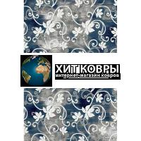 Российский ковер prymougolnik-silver-d218grey-blu