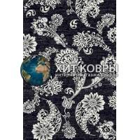 Российский ковер prymougolnik-silver-d232_black-gray